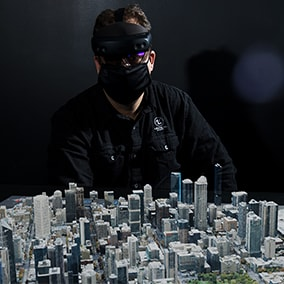 This example project demonstrates how to use large-scale datasets to create mixed reality 3D geospatial visualization applications