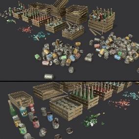 A set for filling landfills, streets, shops, warehouses, etc.