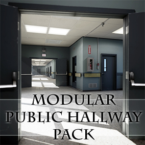 A fully customizable modular environment pack featuring damage and grime effects.