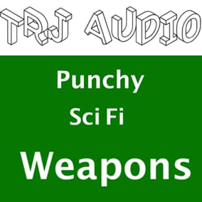 Punchy and unique sci fi weapon sounds.