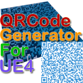 This plugin is used to generate QRCode (Two Dimensional Code) in real time in UE4 Game.