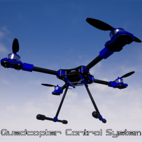 This blueprint system features a comprehensive physics based quadcopter control system. It includes 4 flight modes typical of real world quadcopter flight systems. Learn to fly a quadcopter!