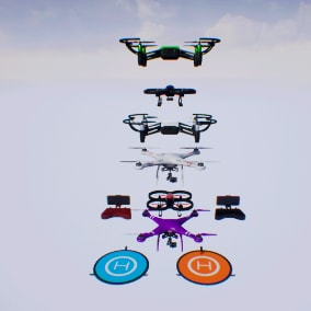 Quadcopter pack  for your VR or other project.