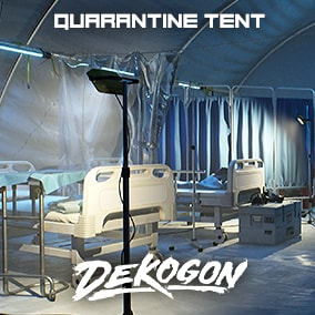 A modular tent and medical supply props that can be used for games!