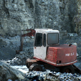 A set of realistic cliffs, rocks and rubble