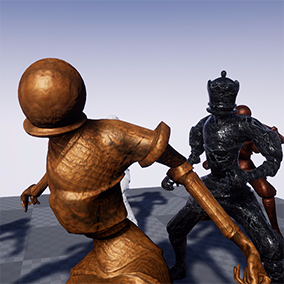 (Updated for 4.18) A fantasy character pack featuring Queen and Pawn characters rigged to the Unreal Skeleton, a selection of weapons, a shield asset, and 13 animations to get you started with this fantasy character pack!
