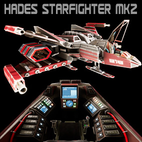 Retro 80`s Styled Space fighter fully featured with cockpit, landing struts, and a host of other features. Designed for ease of use, the ship comes as static mesh, rigged skeletal mesh, and separate ship, cockpit, flight sticks, and missile models.