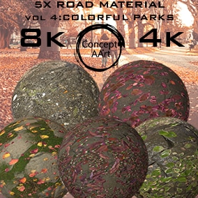 5 Super Realistic Road/Floor Materials for all platforms. All Textures have their own 8K,4K,2K and 1K version and ready for every kind of project.