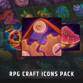 Set of 250 hand painted skill and crafting icons.