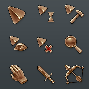 48 unique Fantasy RPG cursors
