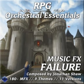 180+ diverse musical effects for quest fail, item break, negative status, game over, and more!
