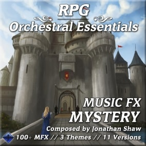 100+ diverse musical effects for ominous events, hidden areas, discoveries and more!