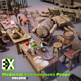 High-Quality Medieval Environment Mega Pack Suitable For Mobile & PC/Console RTS Games.