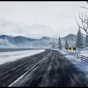 """Racing track"" winter landscape"
