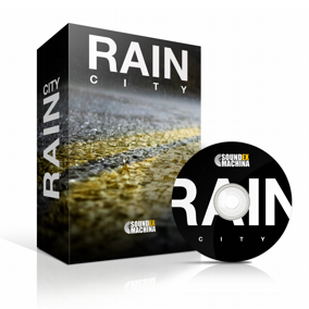 A sound library of 84 urban rainscapes