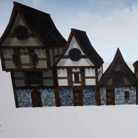 A procedural house system for quickly assembling medieval/fantasy city scenes and levels.