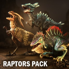 Here you can find three different animated raptors.