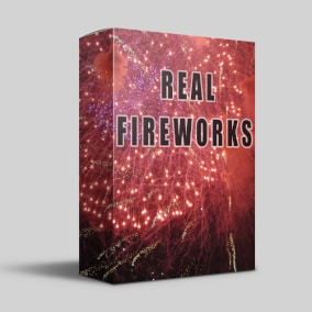 The Real Fireworks SFX library captures the explosive impacts and impressive reverberation of a fireworks display thundering across the night sky.