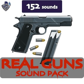 A sound library that includes sound effects of realistic weapon shots and reloads.