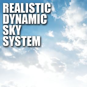 RDS system  is a pack that helps you to get a realistic dynamic skysphere  for the environment of your game. This is simple to use- just drag it to your scene!