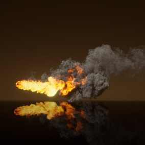 This Project contain 12 Realistic Flamethrower Effects