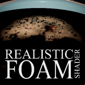 Foam Shader is an advanced material that can generate many foam applications.