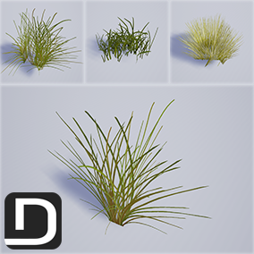 40 High quality grass meshes with character interaction, adjustable Wind system and color variation.