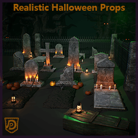Create a creepy environment with this selection of realistic Halloween-themed props. Combined with the thunder and the spooky eyes effect you can turn your levels into blood-curdling sceneries of horror.