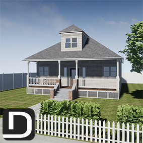 Realistic House Kit is an easy to use modular pack of meshes and props