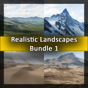 First bundle of four huge landscapes. 64 Square Kilometers each.