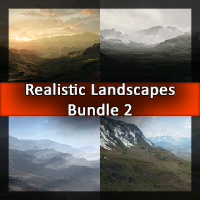 Second bundle of four huge landscapes.
