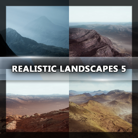 Fifth bundle of four huge landscapes. 64 Square Kilometers each.