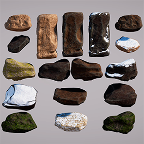 Handy rock package to complete your environments.