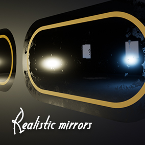 This asset pack includes 6 types of dirty/wet mirrors and 6 types of clear mirrors.