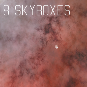 Pack of 8 the most accurate skyboxes of known nebulas from M 82 galaxy