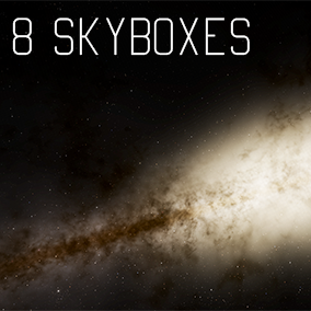 Pack of 8 the most accurate skyboxes of known galaxies