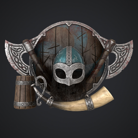 "Realistic low poly ""Viking Set"" with great topology and high detailed textures"