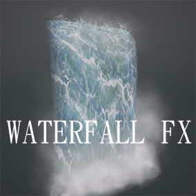 Multiple LOD WaterFall Particle System ( cascade FX ) with Sound FX