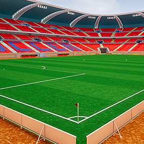 Soccer stadium asset for PC and mobile games