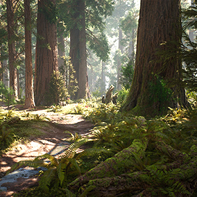 All assets you need to build a photorealistic giant sequoia forest. High resolution models and textures of mountain redwood trees, rocks, debris, plants and more. All materials a highly tweakable, including dynamic water material and custom wind system.