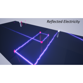 A laser or electricity beam with reflections that can be used in various types of games.