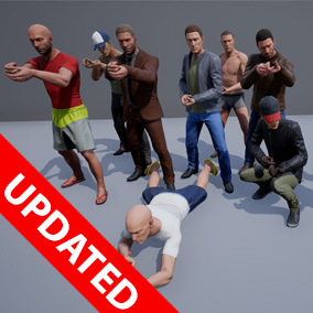 Regular Male Civilian customizable character set, with countless amount of variations