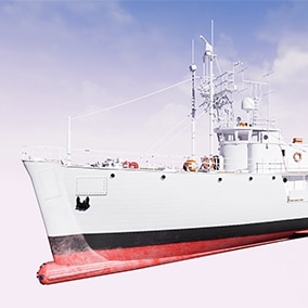 Research vessel based on a famous french boat : Calypso