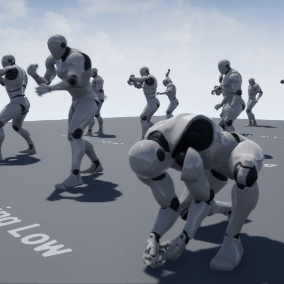 20 animations for the Unreal Epic Skeleton