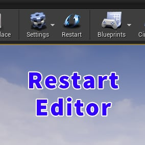 Restart UE4 Editor with 1 click
