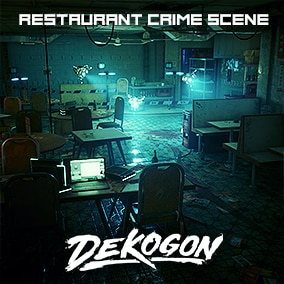 A Restaurant Crime Scene that can be used for games!