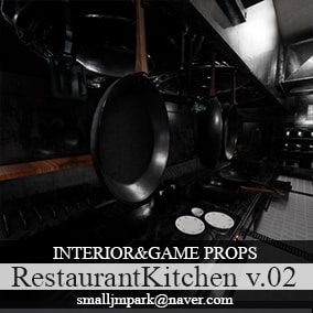 Restaurant Kitchen Props v.02