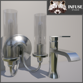 Sinks, Faucets, Lights, and Ceiling Fans of all kinds to fill out your Arch Viz scene. By Infuse Studio