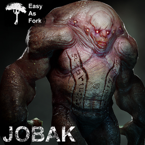 JOBAK is a game ready, rigged and animated character!