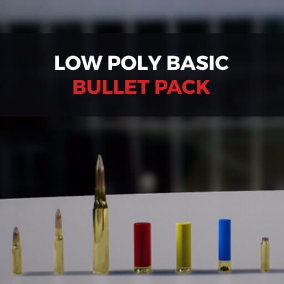 A low poly bullet pack for any game